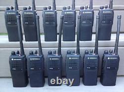 (12) MOTOROLA HT750 TWO WAY PORTABLE RADIOS VHF 136-174MHz 16ch AAH25KDC9AA3AN