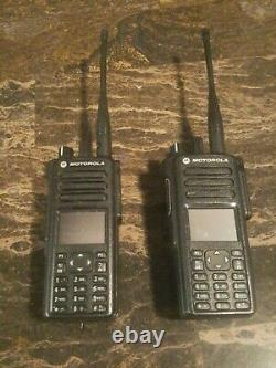 (2) Motorola XPR 7580e Two-Way Radios with Blue Tooth