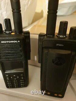 2x Motorola DP4801E UHF 403-527 MHz 4W, GPS Professional Two Way Radio