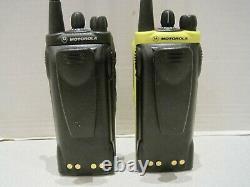 2x Motorola HT1250 LS+ UHF Portable 450-512MHz AAH25SDH9DP5AN Two Way Radio