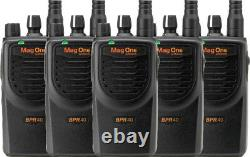 5 Pack Motorola BPR40 MAG ONE VHF 150-174MHz 8 CHANNEL 5W Two Way Radio NI-MH