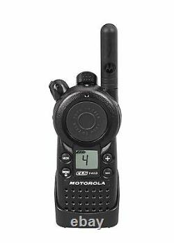 6 Motorola CLS1410 UHF Business Two-way Radios with Bank Charger