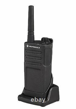 6 Motorola RMU2040 2 Watt UHF Two-way Radios + Headsets & Bank Charger