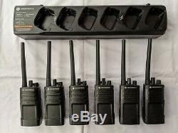 6 Motorola RMV2080 VHF Two-way Radios. 2 watts 8 channels
