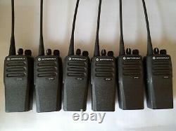 6x Motorola Digital UHF DP1400 Two Way Radios + Six Way Charger & UK PSU
