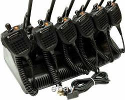 6x Motorola XTS5000 VHF P25 Digital Two Way Radio SMARTZONE H18KEF9PW6AN
