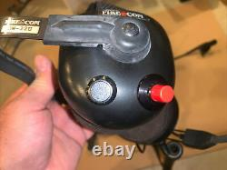 Fire Com Lot Of 3 DW-22U Head Set For Motorola MTS2000 Two Way Radio