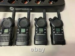 LOT OF 6 MOTOROLA CLS1413 TWO-WAY RADIO WithBATTERY & BELT CLIP +HCTN4002A CHARGER