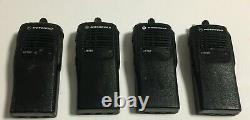 Lot (4) Motorola HT750 AAH25SDC9AA3AN 16CH Portable Two Way Radio Full Tested