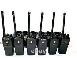 Lot Motorola Pr400 Vhf/uhf Aah65kdc9aa2an Portable Two-way Radio Ltr Capable