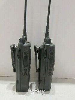 Lot of 2 Motorola HT1250 LS+ 403-470MHz UHF 4W Two Way Radio AAH25RDH9DP5AN