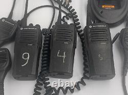Lot of 3 Motorola CP200D UHF Two-Way Portable Radio AAH01QDC9JA2AN & Mics