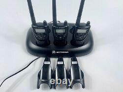 Lot of 3 Motorola Radius CP100 UHF 460-470 MHz Two-Way Radio with CPD-6 & belt
