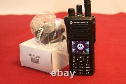 MOTOROLA XPR7580e DIGITAL RADIO 800/900MHz with NEW CHARGER Part# AAH56UCN9WB1AN
