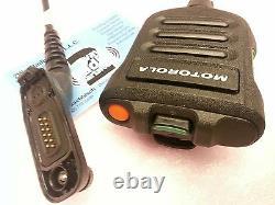 Motorola APX7000 APX6000 XE XPR7550 Impres XP Remote Speaker Dual Mic Thin Black