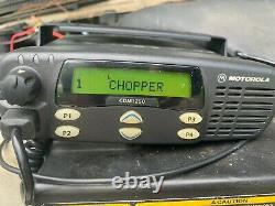 Motorola CDM1250 Two Way Radio with Mounting Bracket Microphone & Wiring Pigtails