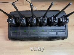 Motorola DP3400 UHF x 6 Two-Way Radios withBatteries and Impres Multi Charger