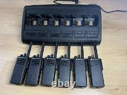 Motorola DP4400 UHF x 6 Two-Way Radios withBatteries and Impres Multi Charger