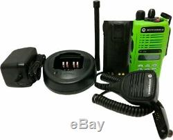 Motorola HT1250 Low Band Two Way Radio 35-50 MHz 128-Channel 6w MDC Wide Band