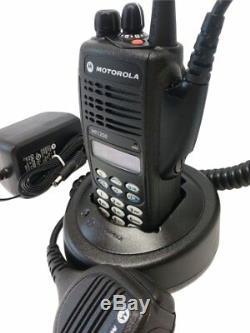 Motorola HT1250 VHF Two Way Radio 136-174 MHz 128 Channel MDC1200 Quik Call II