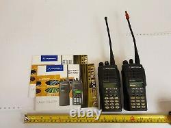 Motorola MTX960 Portable Two-way Radio Qty 2 Used