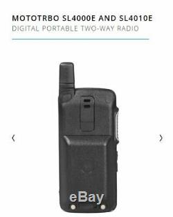 Motorola SL4000e SL4000 Compact DMR Digital UHF Two Way Radio Walkie Talkie