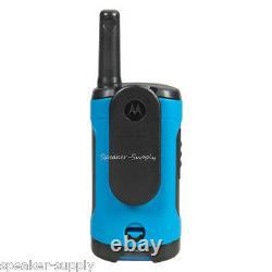 Motorola Talkabout T100TP Walkie Talkie 9 Pack Set 16 Mile Two Way Radios Blue