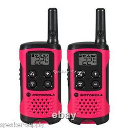 Motorola Talkabout T107 Walkie Talkie 10 Pack Set 16 Mile Two Way Radios Pink