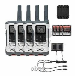 Motorola Talkabout T260 Two-Way Radio / Walkie Talkies Rechargeable 4-PACK