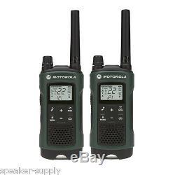 Motorola Talkabout T465 Walkie Talkie 4 Pack 35 Mile Two Way Radio Case Earbuds