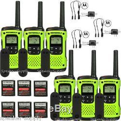 Motorola Talkabout T600 H2O Walkie Talkie 6 Pack Set Two Way Radios Waterproof