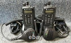 Motorola XPR6550 UHF Digital DMR MotoTrbo set of 2 Radios 403-470 GOOD with Mics