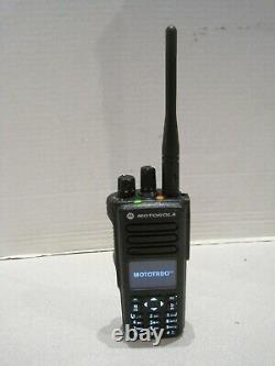 Motorola XPR7580 Digital 800 MHz Mototrbo Radio AAH56UCN9KB1AN WithBattery