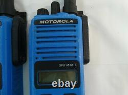 Motorola XPR 6580 IS Digital Blue Two-Way Radios Lot of (2)Two for Parts/ Repair