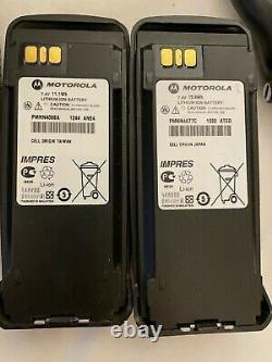 Pair of MOTOROLA XPR 6350 (TWO) 403-470Mhz 4W TWO WAY RADIO WALKIE TALKIE (USED)