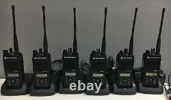QTY 12 Motorola MOTOTRBO XPR3500e UHF AAH02RDH9VA1AN Two Way Radios w Chargers
