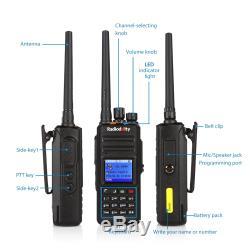 Radioddity GD-55 Plus 10W DMR Digital Ham Two-way Radio UHF Walkie Talkie +cable