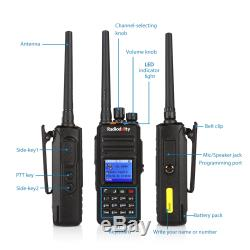 Radioddity GD-55 Plus DMR IP67 2800mAh 10W UHF Two way Radio + Cable + Speaker