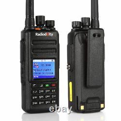 Radioddity GD-55 Plus DMR Tier II 2800mAh battery 10W UHF Ham Two way Radio USA
