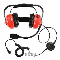 Red Racing Headset for Motorola CP200 CP200D CP200XLS CP1300 Two Way Radio