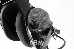 Rugged H41 Behind the Head Racing Two Way Radio Headset Motorola Coil Cord Cable