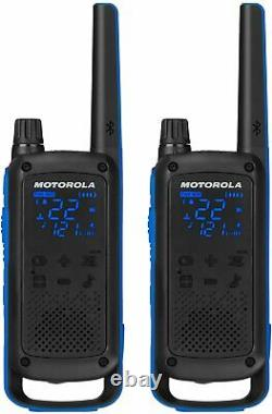 T800 Motorola Talkabout Two-Way Radios, 2 Pack, Black/Blue NEW