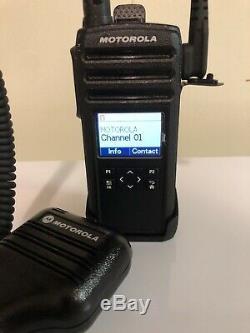 Used Motorola DTR600 30CH 900MHZ Two Way Radio, shoulder strap, & Clip