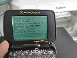 Vintage Motorola Timeport Pagewriter 2000x Black P935 two-way pager WORKING