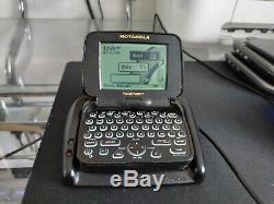 Vintage Skytel Motorola Timeport Black P935 two-way pager WORKING Pagewriter 2wp