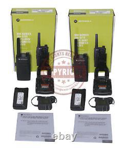 2 Motorola Rmm2050 Two Way Radio, Surveying, Topcon, Sokkia, Trimble, Leica, Paire
