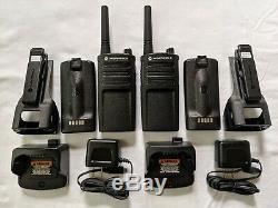 2 Refubished Motorola Uhf Rmu2040 Radios Bidirectionnelles 2 Watts 4 Canaux