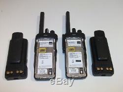 2 X Motorola Dp4801e Uhf Dmr Numérique Wifi Bluetooth Gps Radio À Deux Voies