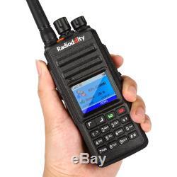 2pcs Radioddity Gd-55 Plus Dmr Ip67 2800mah 10w Tier II Uhf Ham Radio À Deux Voies
