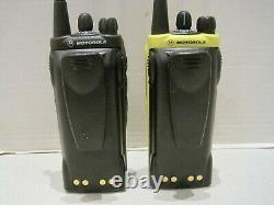 2x Motorola Ht1250 Ls+ Uhf Portable 450-512mhz Aah25sdh9dp5an Radio À Deux Sens